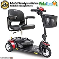 Pride Go-Go Elite Traveller 3-Wheel Scooter 18 Ah Battery w/ Avail Ext Warr
