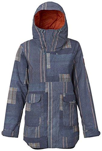 Burton Women's Cerena Parka Jacket, Rainbow Stripe, X-Small