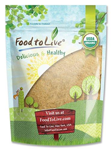 Food to Live Certified Organic Maca Powder (Gelatinized, Non-GMO, Kosher, Bulk) (4 Pounds)