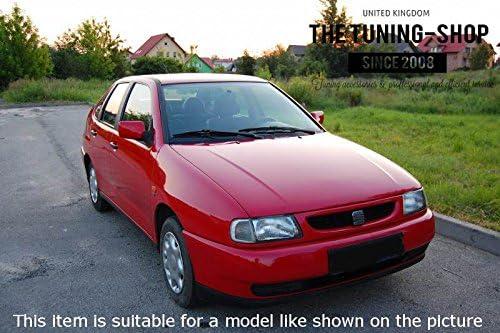 Pour Seat Ibiza Cordoba 6/K 1993 99/Levier de vitesses et frein /à main Cuir Noir Couture Rouge