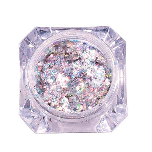 Mirror Glitter Aluminum Flakes Magic Mirror Effect Powders Sequins Nail DIY - Super Chrome Machines