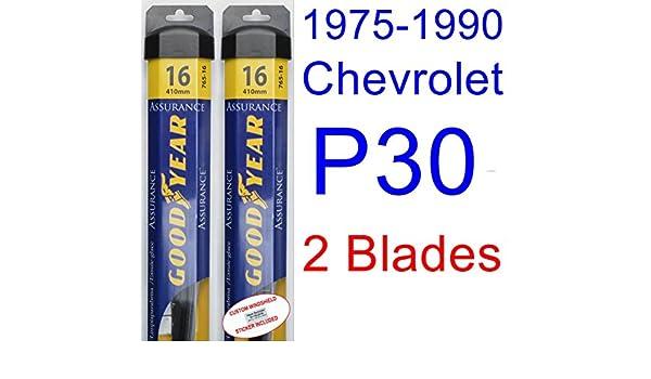 Amazon.com: 1975-1990 Chevrolet P30 Replacement Wiper Blade Set/Kit (Set of 2 Blades) (Goodyear Wiper Blades-Assurance) (1976,1977,1978,1979,1980,1981,1982 ...