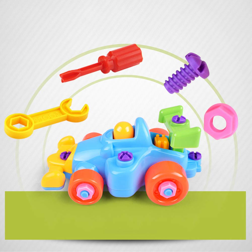 SDGDFXCHN Children Puzzle And Disassembly Toys Take-Apart And Assemble Train And Tools Cartoon Car Plane