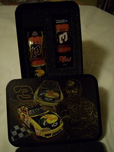Dale Earnhardt Sr #3 1998 Winston All Star Race Bass Pro Monte Carlo and Goodwrench Service Plus (Daytona Win Paint Scheme) Monte Carlo 2 Car Set with Collectible Sam Bass Rendition Tin 1/64 Scale Diecast Cars Action Racing Collectables ARC Limited Edition