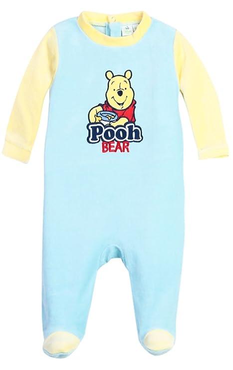 Pijama bebé niño Winnie the Pooh, color azul y beige de 3 a 23 meses