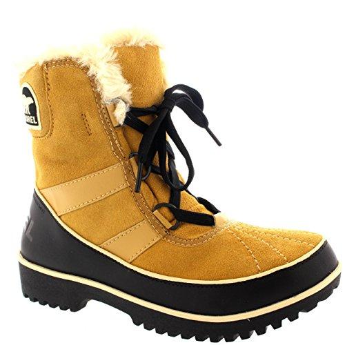 Womens Sorel Tivolli Ii Winter Waterproof Fur Boots Snow Lace Up Rain - Wheat - 9 by SOREL