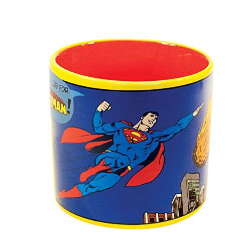 Job for Superman Heat Changing Mug - Add Coffee or Tea and Clark Kent Transforms into The Man of Steel - Comes in a Fun Gift Box - By The Unemployed Philosophers Guild