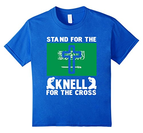 Kids Patriotic Stand For The Saudi Arabian Flag Kneel The Cross 8 Royal Blue