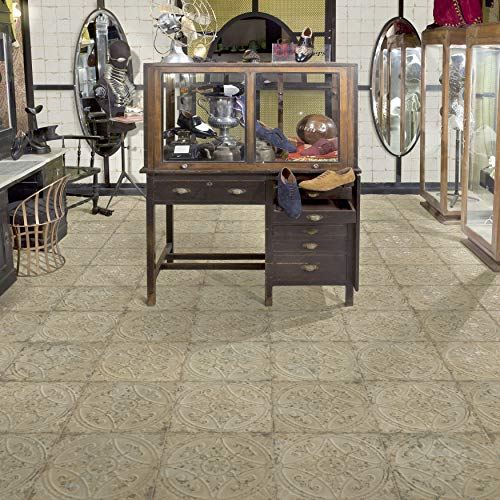 SomerTile FPESAJB Murcia Ceramic Floor and Wall Tile, 13'' x 13'', Blanco by SOMERTILE (Image #6)