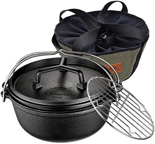 Trois pièces en fonte Dutch Pot, Can Côtes Ragoût And Grill Steak, peut être utilisé pour Poêle à bois, Poêle à gaz, cuisinière à induction