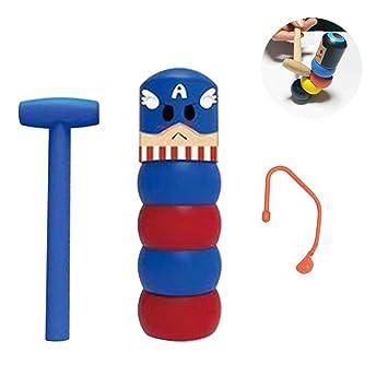 1 Set Immortal Daruma Halloween Funny Wooden Magic Toy Automatic Assemble Toys Woodman?1?
