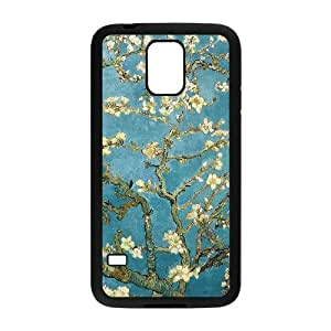 Blossoming Almond Tree Van Gogh Case Cover TPU Phone case cover for SamSung Galaxy S5 black