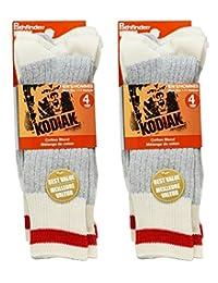 Kodiak Men's Soft Thermal Assorted Crew Comfort Top Socks, US Shoe Size 7-12