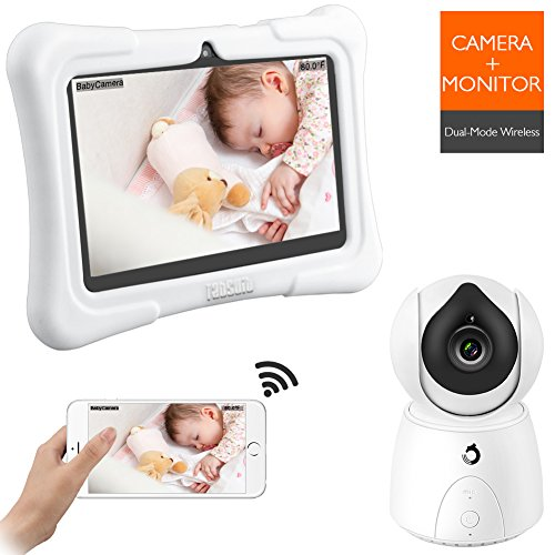 Dragon Touch FUTURE 1 720P Baby Monitor with 7 Inch IPS LCD Touch Screen Tablet, Digital Camera, Temperature Monitoring, Remote Camera Pan-Tilt-Zoom, Lullaby, Night Vision, Two Way Audio and Recording by Dragon Touch