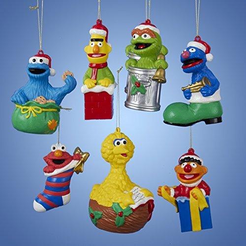 Street Sesame Ornaments Christmas - Kurt Adler 4-5