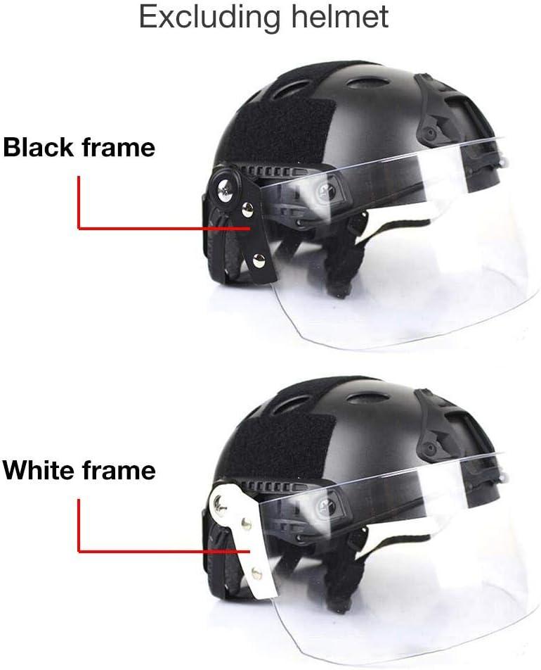 Mens Outdoor Skiing Helmet Helmet With Protective Mask hinffinity Riot Helmet Windproof Lens Anti-Glare Lenses For Helmet