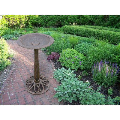 Antique Bronze Bird Bath