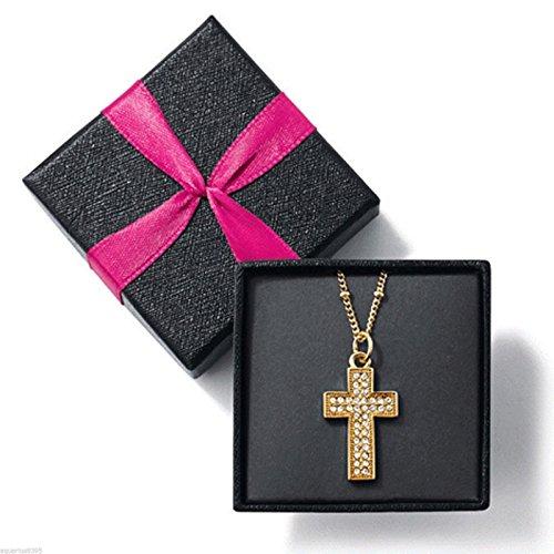 Avon Beautiful Sparkle Cross Pendant Necklace (Gold ()