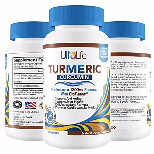 #1 TURMERIC CURCUMIN with BioPerine Black Pepper for Best Absorption – BEST Joint Back Pain Relief – Anti-Inflammatory + Anti-Aging – 1,300 mg Turmeric Root Curcumin Capsules. Made in USA. Zero Risk! For Sale