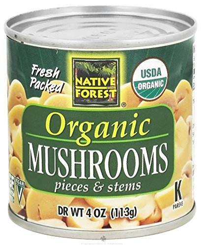 Native Forest Mushroom Pieces and Stems, 4 oz