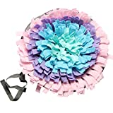 IFOYO Pet Snuffle Mat, Dog Feeding Mat Small Dog Training Pad Pet Nose Work Blanket Non Slip Pet Activity Mat for Foraging Skill, Stress Release, (C Flower, Diameter: 17.7in / 45cm)