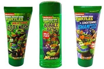 Great TMNT Ninja Turtle Body Wash + Bubble Bath + Shampoo (set Of 3)