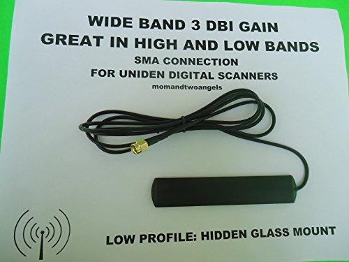 HIDDEN GLASS WINDOW MOUNT ANTENNA FOR UNIDEN HOME PATROL BCD396 DIGITAL - Glasses Scanner