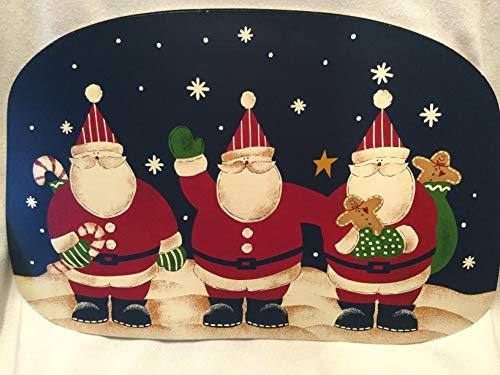Hudson Santa - Dayton Hudson Set of 4 Vinyl Santa Placemats