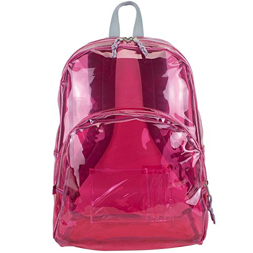17'' Clear Pink Wholesale Backpack - Case of 24 by Eastsport