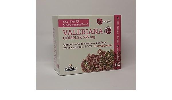 Nature Essential Fitocomplex Valeriana (con Passiflora, Melissa, Amapola, 5-HTTP y Melatonina) 635 mg 60 comprimidos: Amazon.es: Alimentación y bebidas