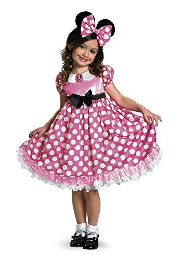 Halloween Costume Club (Minnie Mouse Clubhouse Glow In The Dark Costume, Pink/White,)