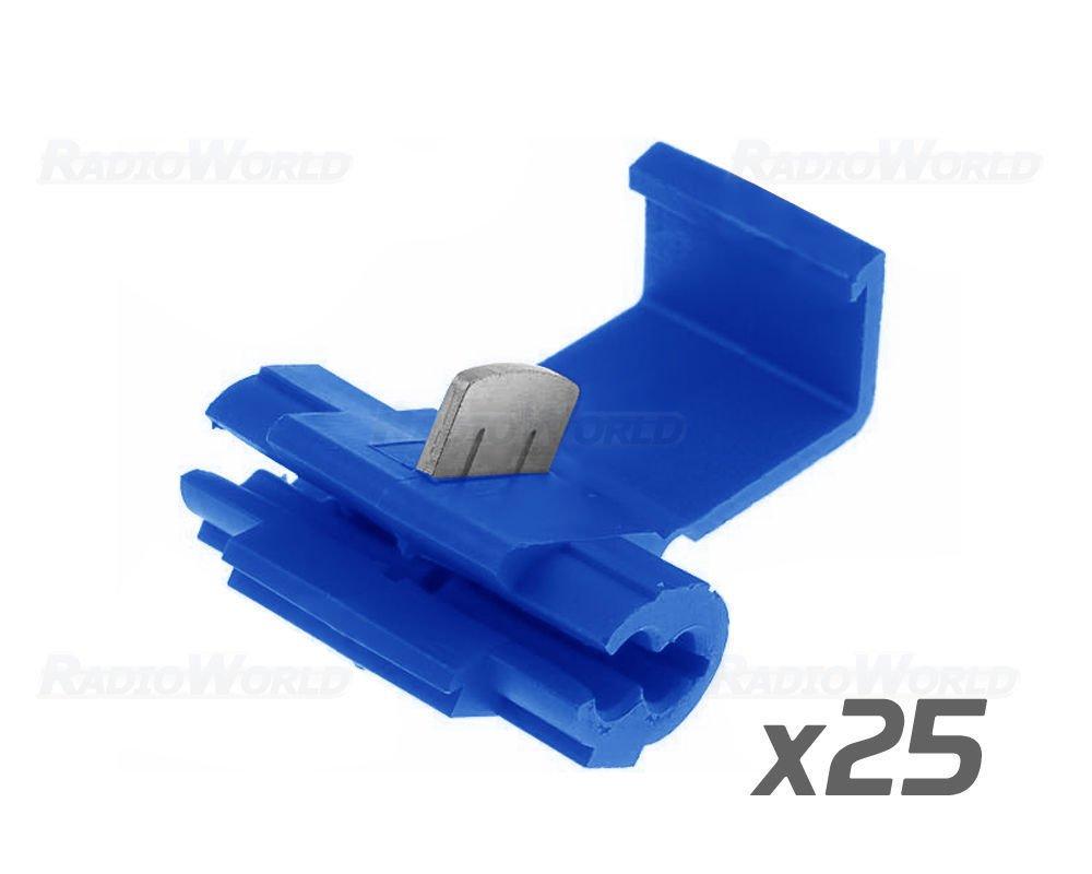 25x Blue Scotch Lock Wire Connectors Quick Splice Terminals Crimp Motorcycle Wiring Connector Blocks Electrical Car Motorbike