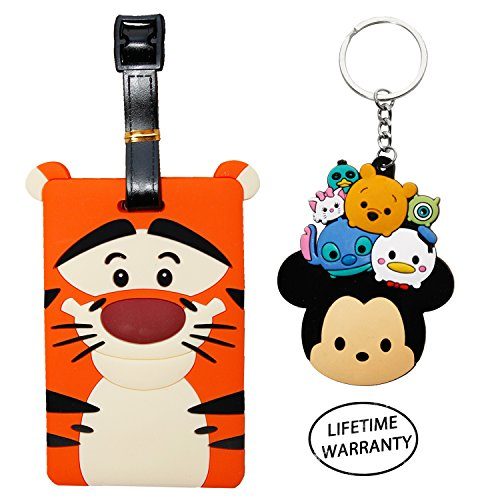 Price comparison product image DIYJewelryDepot Tiger Cartoon Luggage Name ID Large Backpack Travel Bag Tag