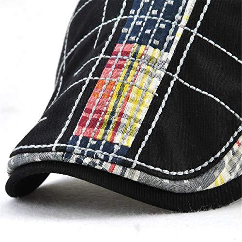 GLLH qin Casual bere Pato Hombre hat Gorro A B de Bordado Sombrero para de Sombreros Irregular ddxvprnqXW