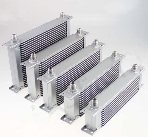 """7 Row 8AN Universal Engine Transmission Oil Cooler 3//4/""""UNF16 AN-8 Silver"""