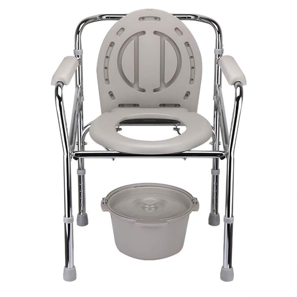 G-LXYZBQSHYP Elderly Toilet Chair Commode Foldable Seat Height Adjustable Toilet Stool for Pregnant Women and Disabled Bathroom Bedroom by G-LXYZBQSHYP