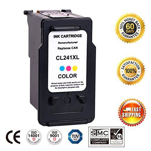 Remanufactured CL 241XL 241 XL High Yield Ink Cartridge Replacement (Single Tri-Color) With Ink Level Indicator Used In PIXMA 2120 2220 3120 3220 4120 4220 MX372 432 512