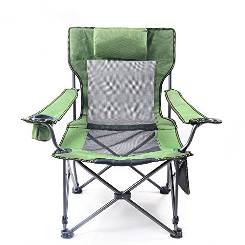 QYC Outdoor sit lie dual folding chair fishing chair adjustable recliner portable beach chair lunch break chair (Color : Black) Black Leisure Recliner Chair