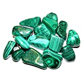 Zentron Crystal Collection: Natural Large Tumbled Green Malachite- Polished Authentic Wholesale Gemstones for Healing…