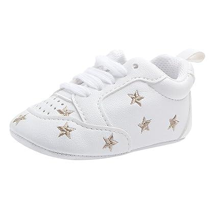 b4810b7b D DOLITY - Zapatillas de deporte para niños y niñas Golden star Talla:12-