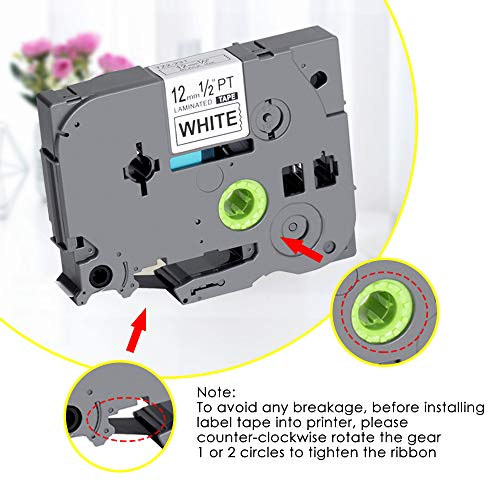 TZe Tape 12mm 0.47 Laminated White TZe-231 TZ-231 Label Tape Compatible Brother Ptouch Label Tape for PTD210 PTH100 PTD200 PTD400 PT-P700 PTD600 12mm (1/2 Inch) x 8m (26.2 ft) Black on White 4-Pack Photo #4