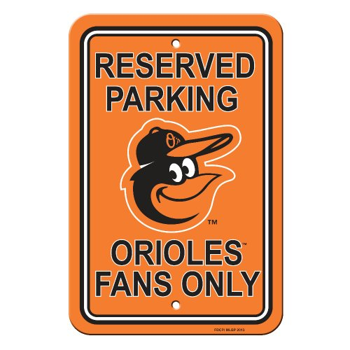 Baltimore Orioles MLB Plastic Parking Signs