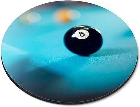 Alfombrilla de ratón Redonda – Ocho Bolas Billar Snooker Pub Game ...
