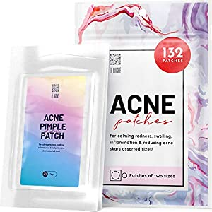 Best Epic Trends 513pd-zhs-L._SS300_ Acne Patches 132 Dots 3 Sizes 8 mm, 10 mm, 12 mm - Hydrocolloid Pimple Patches Blemish Protective Cover Absorbing Spot…