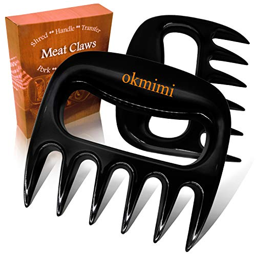 Bear Claws Meat Shredder Claws Best Pulled Pork Shredder Claws Paws - Bbq Smokers Cave Tools Meat Shredding Handles Claws - Non-Slip Kitchen Claw Utensil - Grilling Chicken Shred Fork Carving Tone Kit