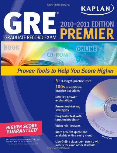 Kaplan GRE Exam 2010-2011 Premier with CD-ROM (Kaplan - Gre Premier Program