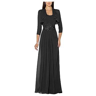 Black evening dress with jacket