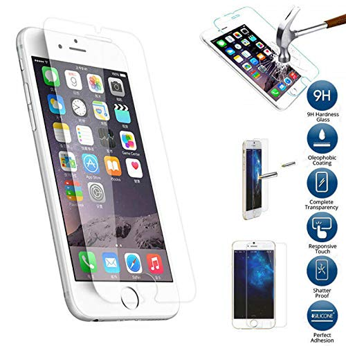 Screen Protector for iPhone 4.7-Inch, Tempered Glass Film for Apple iPhone 8 & iPhone 7 & iPhone 6s, 2-Pack Clear