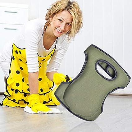 Jeerbly 1 Pair Garden Knee Pads Thicken Neoprene Foam Protector Case Comfort Knee Brace with Adjustable Straps for Gardening Cleaning Scrubbing Floors Work Weeding