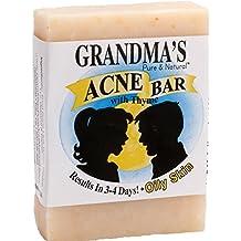 Grandmas Soaps Acne Control Bar OILY SKIN 4oz Bars(2 Pack)